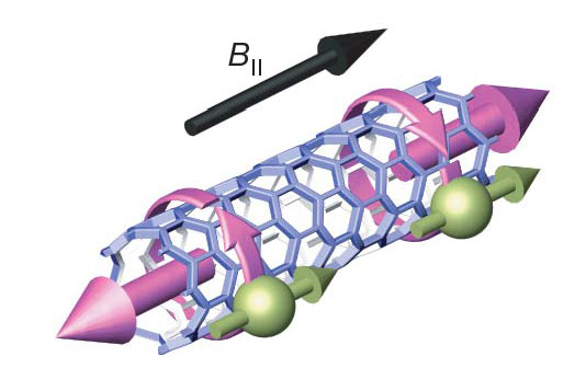 Electrons confined in a nanotube