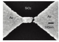 Plasmon resonance in individual gold nanogap